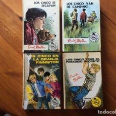 Libros antiguos: NOVELA LOS CINCO , AÑOS 1972-1973-1974 DE ENID BLYTON Nº 24-28-36-37- LOTE 4 NOVELAS. Lote 194370318