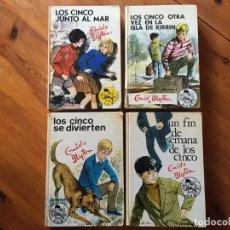 Libros antiguos: NOVELA LOS CINCO, AÑOS 1972-1973-LOTE 4 NOVELAS Nº 26-31-33-35-POR ENID BLYTON. Lote 194380970