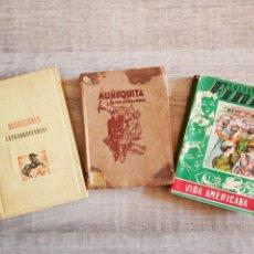 Libros antiguos: LOTE: NARRACIONES EXTRAORDINARIAS E. A. POE - MUÑEQUITAS - NARRACIONES ESCOLARES: VIDA AMERICANA. Lote 194396277