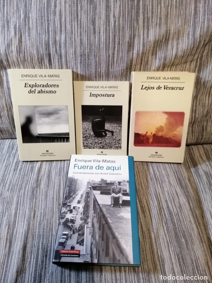 ENRIQUE VILA-MATAS LOTE DEDICATORIA. (Libros Antiguos, Raros y Curiosos - Literatura Infantil y Juvenil - Novela)