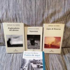Libros antiguos: ENRIQUE VILA-MATAS LOTE DEDICATORIA.. Lote 194634011