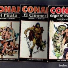 Libros antiguos: CONAN EL ORIGEN DE UNA LEYENDA N,1,2 Y 3 EDICIONES FORUM 1983. Lote 195097508