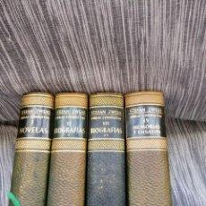 Libros antiguos: STEFAN ZWEIG OBRAS COMPLETAS CUATRO TOMOS JUVENTUD. Lote 195284568
