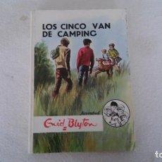 Libros antiguos: LOS 5 VAN DE CAMPING Nº 28 DE ENID BLYTON. Lote 195300590