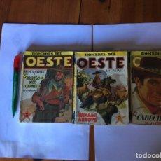 Libros antiguos: NOVELA HOMBRES DEL OESTE Nº 4 - 46 -63 - 1ª EDICION AÑO 1948 - EL Nº 4- LOTE 3 REVT,. Lote 195367355