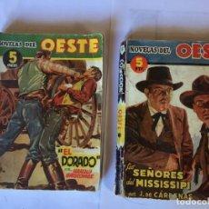 Libros antiguos: NOVELAS DEL OESTE Nº 3 - 10 -EDICIONES CLIPER - LOTE 2 NOVELAS,. Lote 195378913