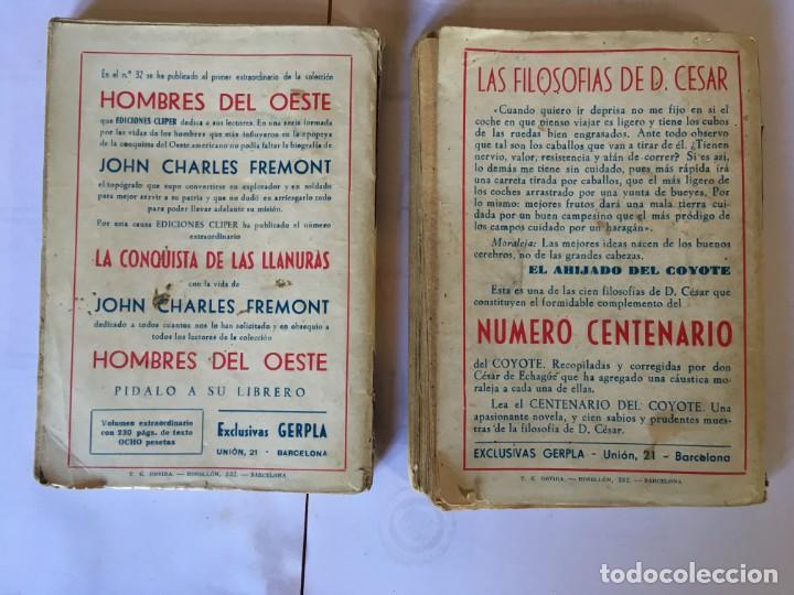 Libros antiguos: novelas del oeste nº 3 - 10 -ediciones cliper - lote 2 novelas, - Foto 2 - 195378913