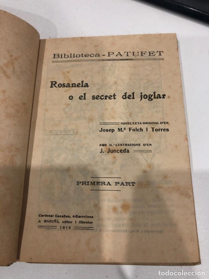 Libros antiguos: Rosanela o el secret del joglar - Foto 3 - 195589772