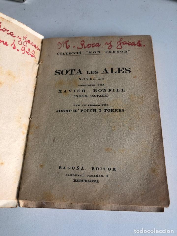 Libros antiguos: Sota les ales - Foto 3 - 195645547