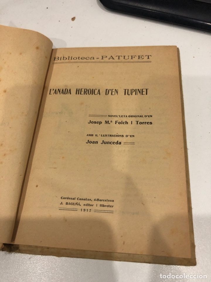 Libros antiguos: L'anada heroica den tupinet - Foto 3 - 195679043