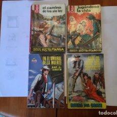 Libros antiguos: NOVELAS,HEROES DEL OESTE, RUTAS DEL OESTE Y COLECCION HURACAN - 1ª EDICION LOTE 4 NOVELAS. Lote 195868247