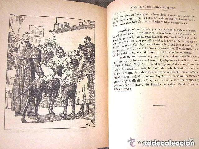 Libros antiguos: LES ROBINSONS DE SAMBRE ET MEUSE 1917 Editions SPES. EDMOND CHOLLET En francés 1ª Edición - Foto 3 - 196730876