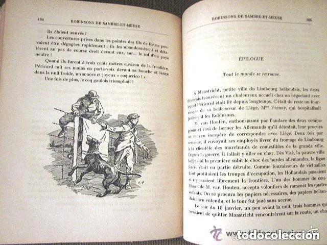 Libros antiguos: LES ROBINSONS DE SAMBRE ET MEUSE 1917 Editions SPES. EDMOND CHOLLET En francés 1ª Edición - Foto 5 - 196730876