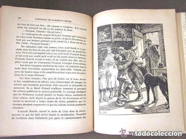 Libros antiguos: LES ROBINSONS DE SAMBRE ET MEUSE 1917 Editions SPES. EDMOND CHOLLET En francés 1ª Edición - Foto 10 - 196730876