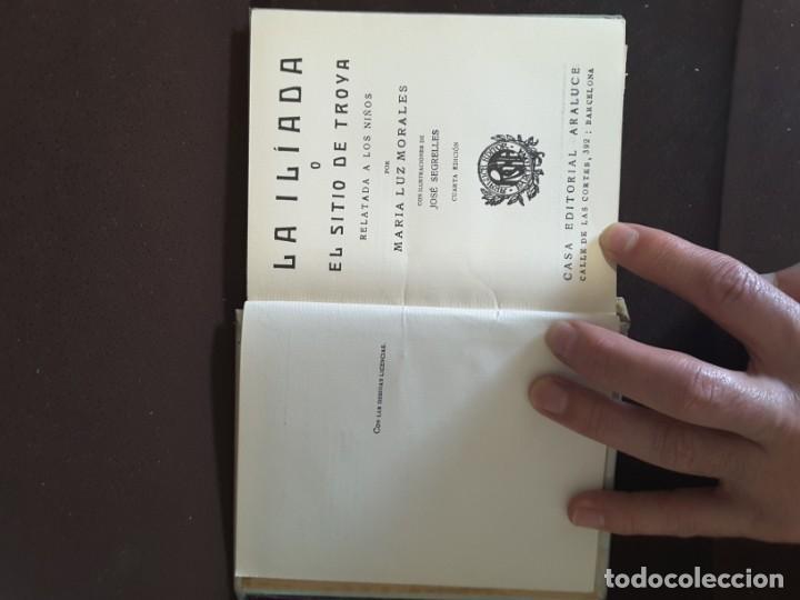 Libros antiguos: COLECCION ARALUCE LITERATURA JUVENIL CLASICA LA ILIADA O EL SITIO DE TROYA - Foto 7 - 198030376