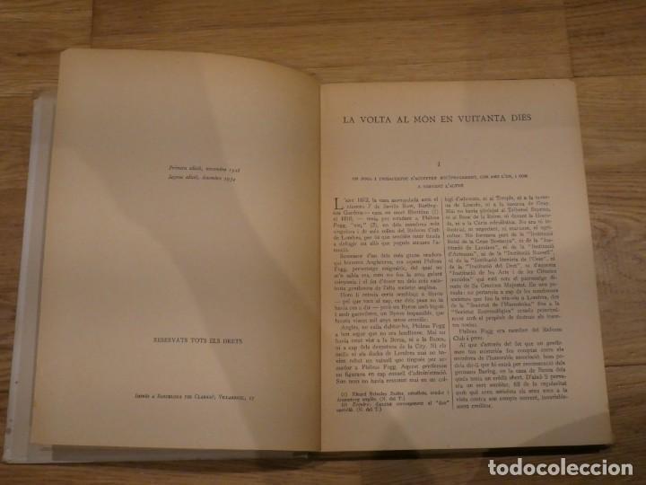 Libros antiguos: LA VOLTA AL MÓN EN 80 DIES, JULES VERNE - 1934 (2a EDICIÓN) - Foto 4 - 198331093
