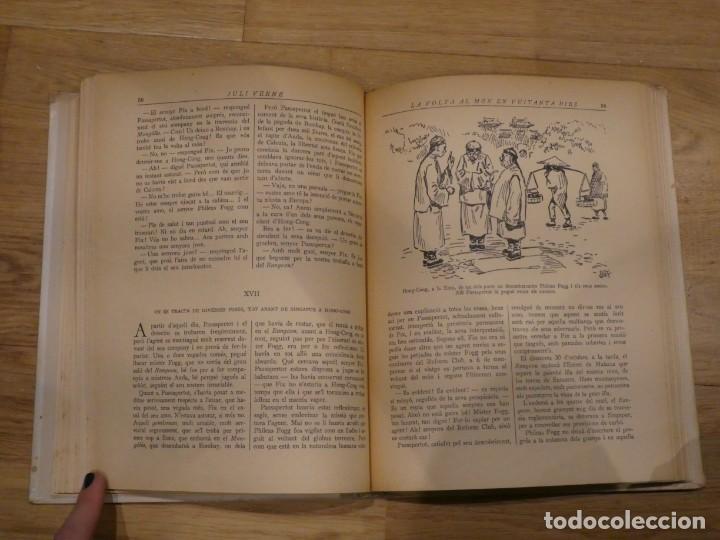 Libros antiguos: LA VOLTA AL MÓN EN 80 DIES, JULES VERNE - 1934 (2a EDICIÓN) - Foto 5 - 198331093