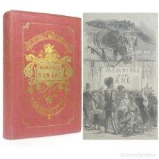 Libros antiguos: 1917 - MEMORIAS DE UN ASNO - NOVELA INFANTIL ILUSTRADA CON BELLOS GRABADOS - ENCUADERNACIÓN. Lote 199420020