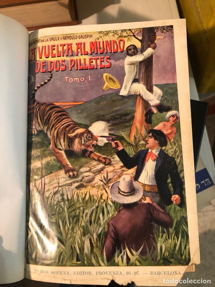 Libros antiguos: La vuelta al mundo de dos pilletes, tomó I YII encuadernados - Foto 2 - 253606630