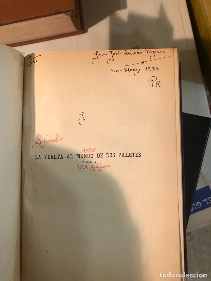 Libros antiguos: La vuelta al mundo de dos pilletes, tomó I YII encuadernados - Foto 3 - 253606630