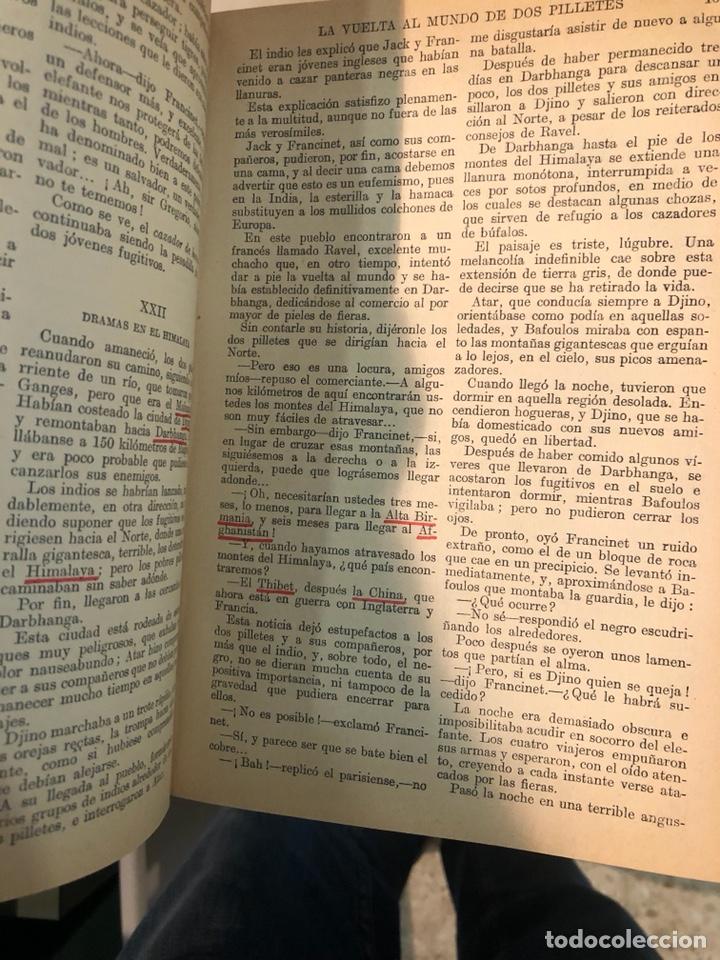 Libros antiguos: La vuelta al mundo de dos pilletes, tomó I YII encuadernados - Foto 4 - 253606630