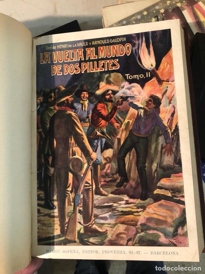 Libros antiguos: La vuelta al mundo de dos pilletes, tomó I YII encuadernados - Foto 5 - 253606630