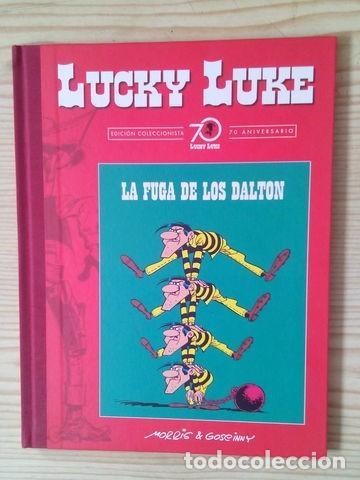 Libros antiguos: Lucky luke 1ª entrega. La fuga de los dalton. Edición coleccionista limitada 70 aniversario. Planeta - Foto 3 - 168323736
