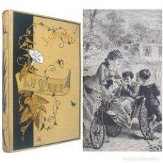 Libros antiguos: 1882 - JULES GIRARDIN: MAMÁ - NOVELA JUVENIL ILUSTRADA CON 112 GRABADOS EN BOJ - TELA MODERNISTA. Lote 205241035