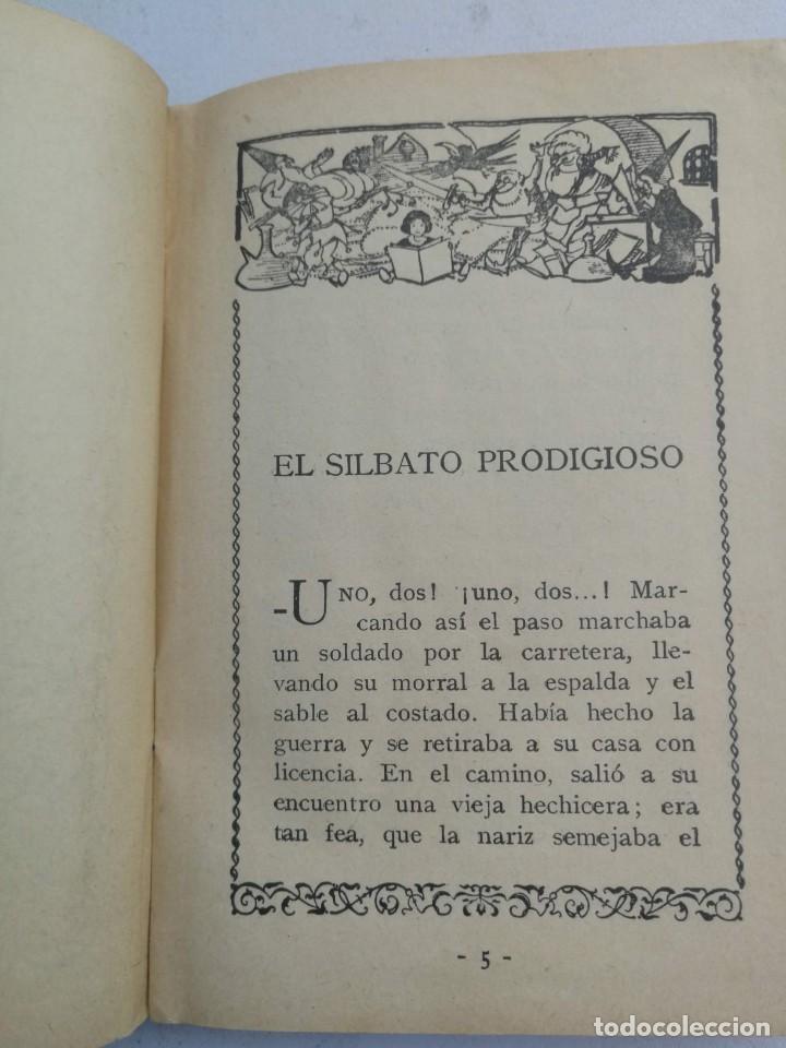 Libros antiguos: ANTIGUO LIBRO - EL SILBATO PRODIGIOSO - CUENTOS DE CALLEJA - LOS TRES ZAPATEROS, LA CASITA VIEJA, UN - Foto 2 - 207765453
