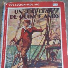 Libros antiguos: UN CAPITÁN DE 15 AÑOS. JULIO VERNE. EDIT MOLINO 1934 1.ª EDICIÓN. Lote 208079356