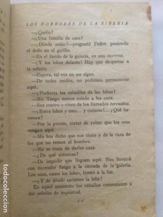 Libros antiguos: LOS HORRORES DE LA SIBERIA - TOMO II - Emilio Salgari - Biblioteca S. Calleja clxxxv- 181p 17x12 - Foto 4 - 208832355