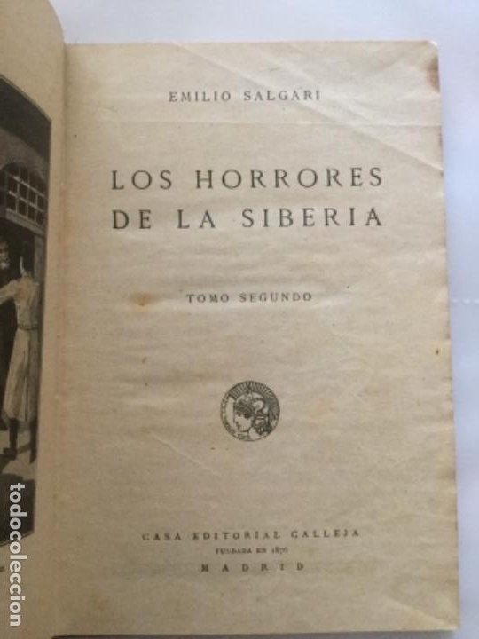 Libros antiguos: LOS HORRORES DE LA SIBERIA - TOMO II - Emilio Salgari - Biblioteca S. Calleja clxxxv- 181p 17x12 - Foto 2 - 208832355