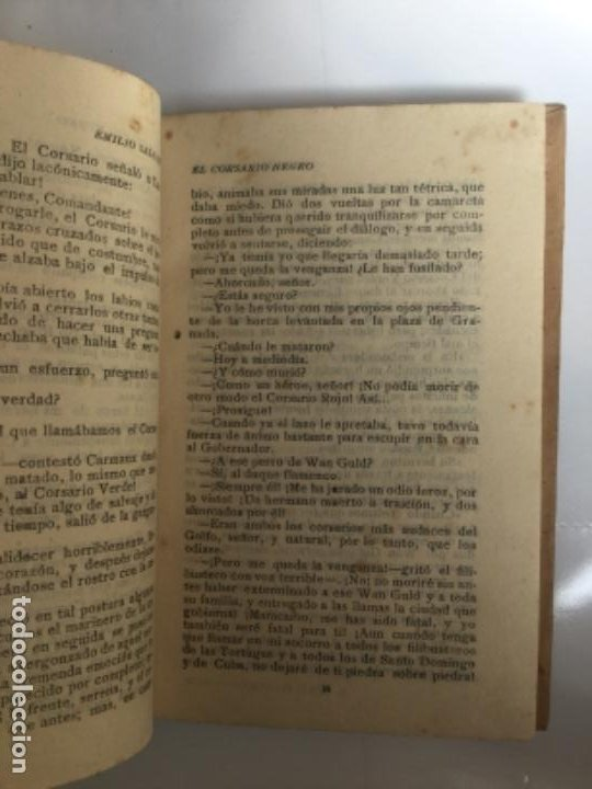 Libros antiguos: EL CORSARIO NEGRO - Emilio Salgari - Biblioteca S. Calleja - 218p. 17x12cm - Foto 3 - 208865705