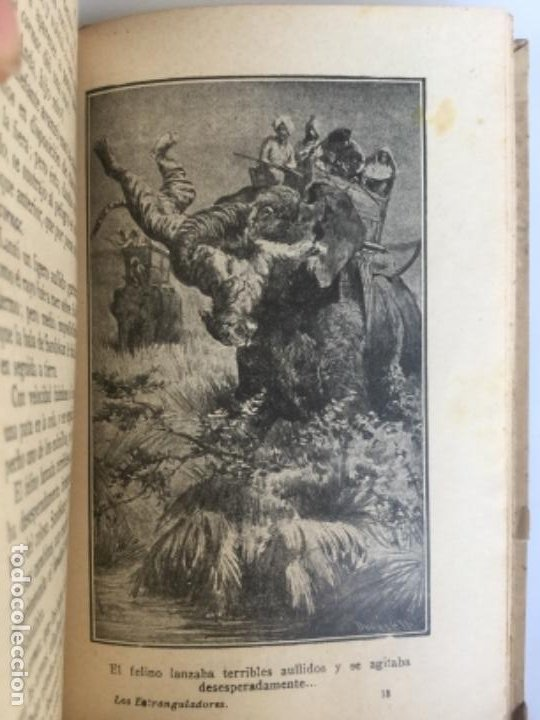 Libros antiguos: LOS ESTRANGULADORES - Emilio Salgari - Biblioteca S. Calleja XXX - Buen estado - 231p. 17x12cm - Foto 4 - 208876190