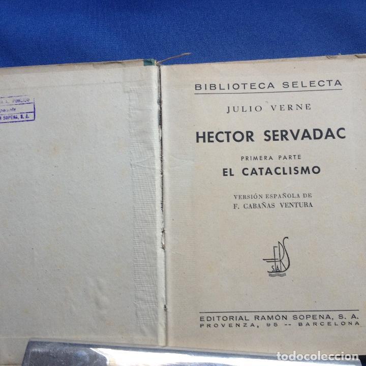 Libros antiguos: HECTOR SERVADAC-JULIO VERNE-BIBLIOTECA SELECTA DOS TOMOS 57/58 OBRA COMPLETA -VER FOTOS - Foto 3 - 208876195