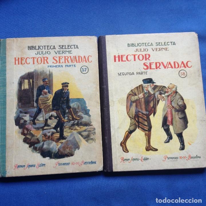 HECTOR SERVADAC-JULIO VERNE-BIBLIOTECA SELECTA DOS TOMOS 57/58 OBRA COMPLETA -VER FOTOS (Libros Antiguos, Raros y Curiosos - Literatura Infantil y Juvenil - Novela)