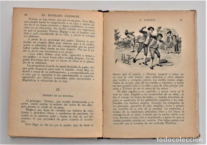 Libros antiguos: EL HONRADO FRIDOLIN - CRISTOBAL SCHMID - BIBLIOTECA SELECTA Nº 50 RAMÓN SOPENA EDITOR 1926 - Foto 6 - 212996661