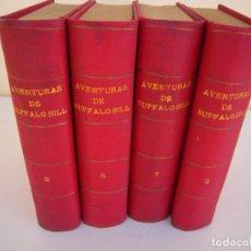 Libros antiguos: LOTE 4 TOMOS AVENTURAS DE BUFFALO BILL RAMON SOPENA. Lote 213347531