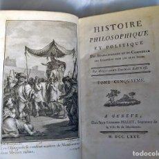 Libros antiguos: AÑO 1780. ESTABLECIMIENTO Y COMERCIO DE EUROPEOS EN LAS INDIAS. LIBRO DEL SIGLO XVIII.. Lote 215452528