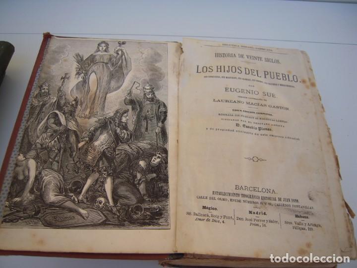 Libros antiguos: historia de 20 siglos los hijos del pueblo - Foto 2 - 216803673