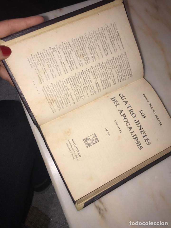 Libros antiguos: LOS CUATRO JINETES DEL APOCALIPSIS - Vicente Blasco Ibáñez - Foto 4 - 221913161