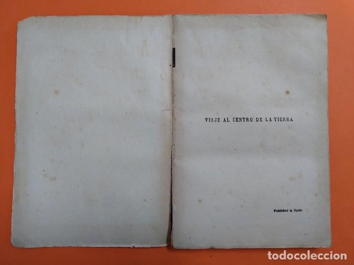 Libros antiguos: VIAJE AL CENTRO DE LA TIERRA - JULIO VERNE - AÑO 1936 - EDITORIAL RAMON SOPENA S.A ..L2460 - Foto 2 - 223086690