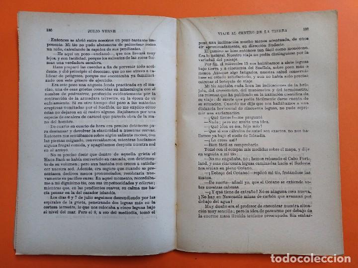 Libros antiguos: VIAJE AL CENTRO DE LA TIERRA - JULIO VERNE - AÑO 1936 - EDITORIAL RAMON SOPENA S.A ..L2460 - Foto 3 - 223086690