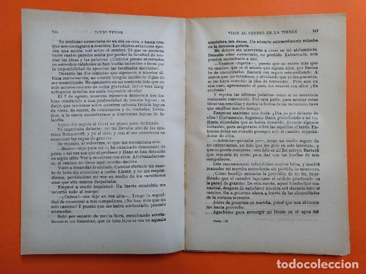 Libros antiguos: VIAJE AL CENTRO DE LA TIERRA - JULIO VERNE - AÑO 1936 - EDITORIAL RAMON SOPENA S.A ..L2460 - Foto 4 - 223086690