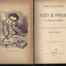 Libros antiguos: MARTIN EL TONELERO. EL VIOLIN DE CREMONA / E. TEODORO HOFFMANN; TRD. P. UMBERT. BCN : HENRICH, 1911.. Lote 223643173
