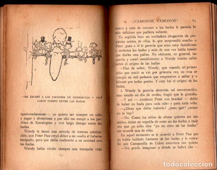 Libros antiguos: J. M. BARRIE : PETER PAN Y WENDY - EDITORIAL JUVENTUD, 1925 - PRIMERA EDICIÓN ESPAÑOLA - Foto 4 - 224471176