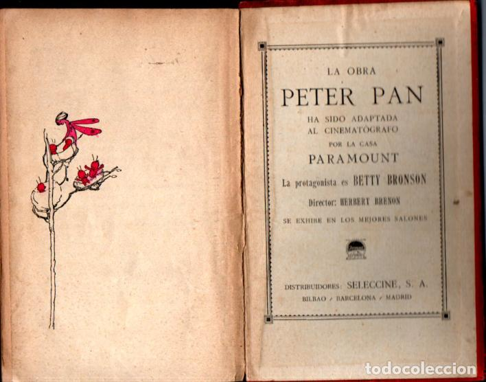 Libros antiguos: J. M. BARRIE : PETER PAN Y WENDY - EDITORIAL JUVENTUD, 1925 - PRIMERA EDICIÓN ESPAÑOLA - Foto 5 - 224471176