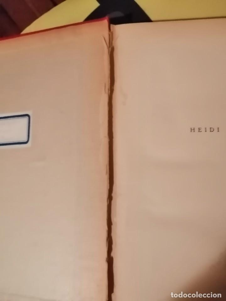 Libros antiguos: JUANA SPYRI :HEIDI (2º EDICION 1931) Y OTRA VEZ HEIDI (1ª EDICION 1929) - Foto 6 - 225136343