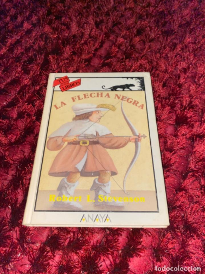 Libros antiguos: STEVENSON: LA FLECHA NEGRA, (ANAYA, TUS LIBROS, 104, 1ª, 1991). - Foto 3 - 225391595