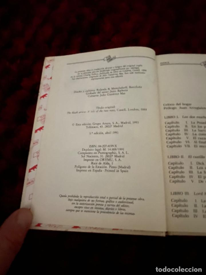 Libros antiguos: STEVENSON: LA FLECHA NEGRA, (ANAYA, TUS LIBROS, 104, 1ª, 1991). - Foto 5 - 225391595